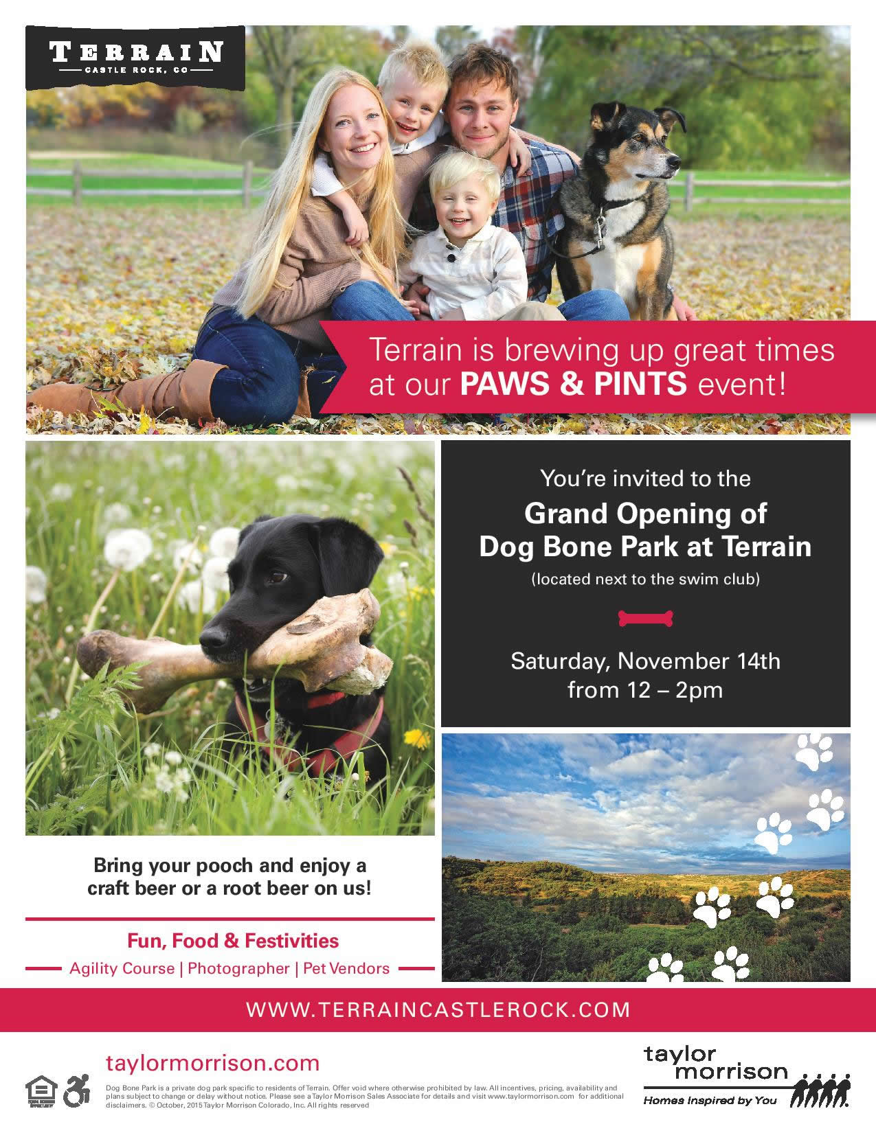 DOG BONE PARK PARTY NOVEMBER 14!